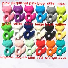 NEW 5pcs/lot Silicone Teething Fox Pendant Jewelry Pendant - Organic BPA Free Silicone Teether Pendant Toys for Nursing Moms(China (Mainland))