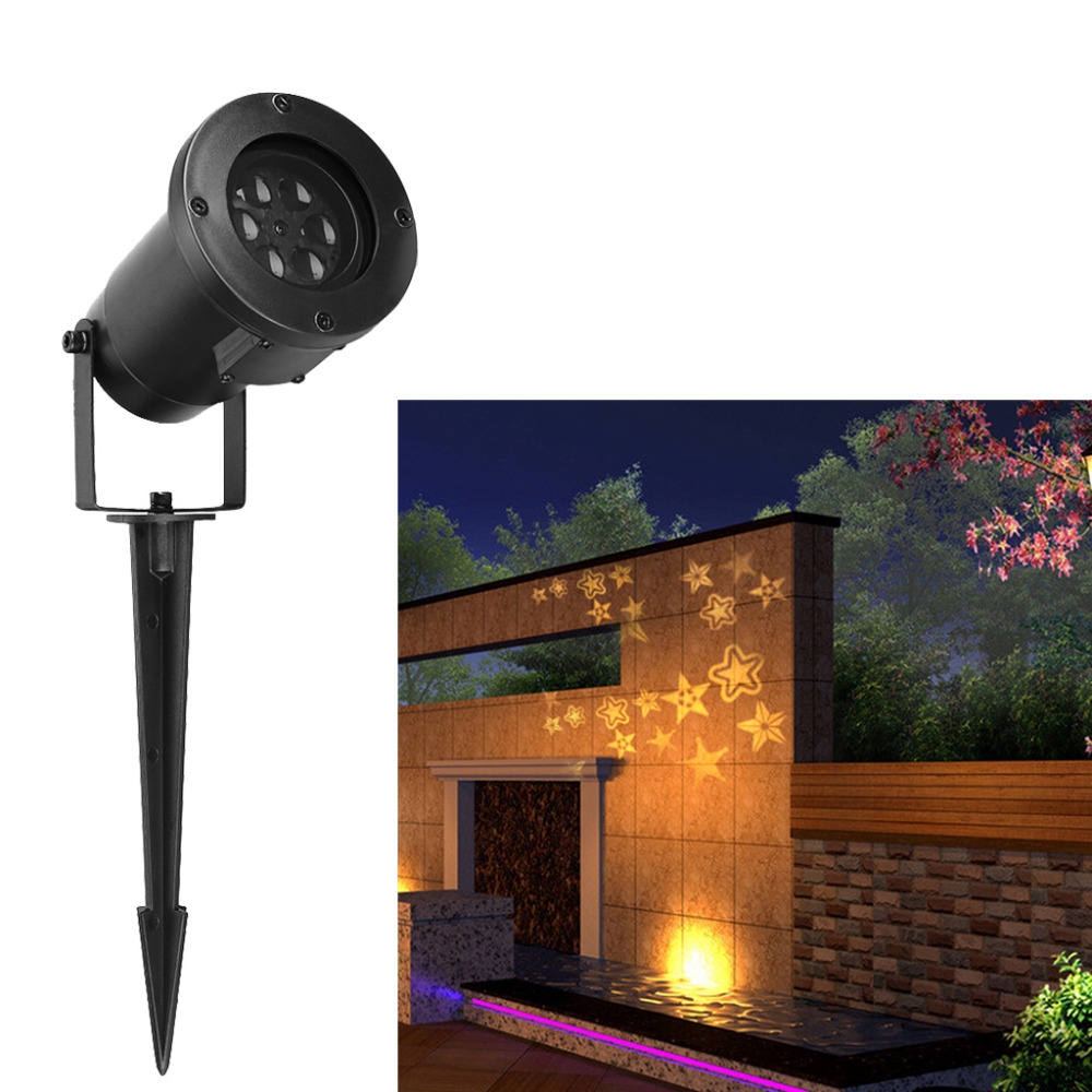 Excelvan Led Landscape Projector Light, Stereo Star Moves Automatically Projection Lamp Night Light for Indoor/Outdoor Garden(China (Mainland))
