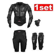HEROBIKER Motorcross Racing Motorcycle Racing Body Armor Protective Jacket+ Gears Short Pants+Motorcycle Knee Protector+Gloves(China (Mainland))