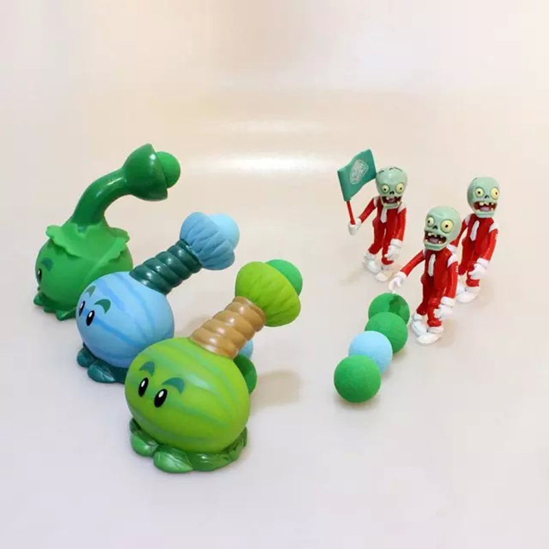 New Popular Game Plants Vs Zombies Peashooter PVC Action Figure Model Toys Plants Vs Zombies Toys For Baby Kids Gift(China (Mainland))