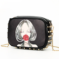 Edgy Classic Rivets Trendy Fashion Chain Bag Women Cute Small Size All match Shoulder Bag Cute