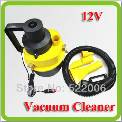 Free shipping 12v dc 65w vacuum cleaner dust collector wet and dry used with cigarette lighter plug for car, housing used.(China (Mainland))