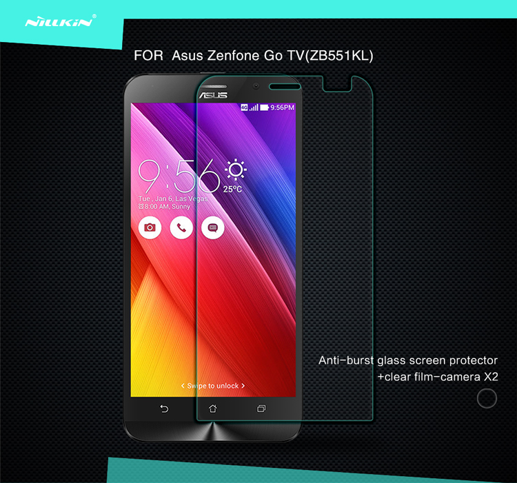 Nillkin For ASUS ZenFone Go TV ZB551KL Screen Protector Anti-Explosion Tempered Glass Screen Protector Film(China (Mainland))