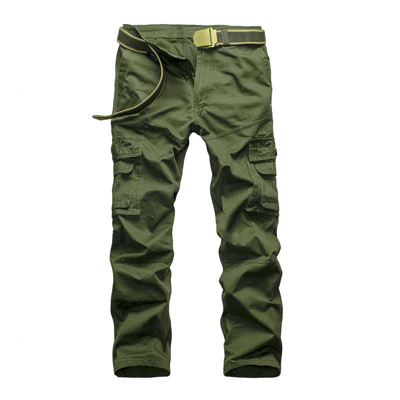 2016 Mens Fashion Military Multi Pocket Cargo Pants Casual Straight Long Baggy Outdoor Trousers Large Size Slim Fit Work Pants