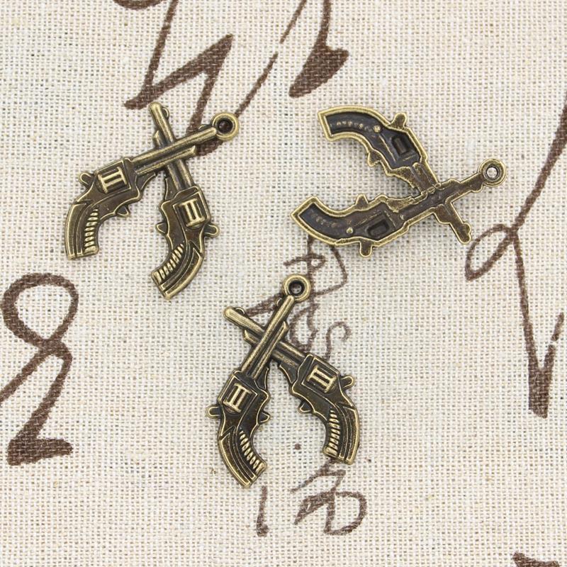 99Cents 5pcs Charms pistol 31*23mm Antique Making pendant fit,Vintage Tibetan Bronze,DIY bracelet necklace(China (Mainland))