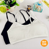 Young girl 100%cotton children black white fashion brief small vest underwear breast-length girls student training bras - our childhood Co.,LTD store