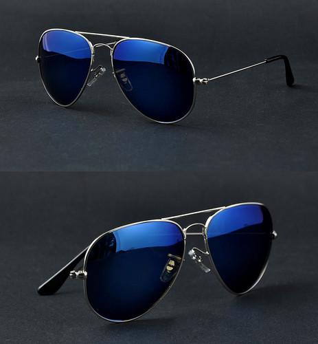 blue raybans k176  blue lens aviator ray bans