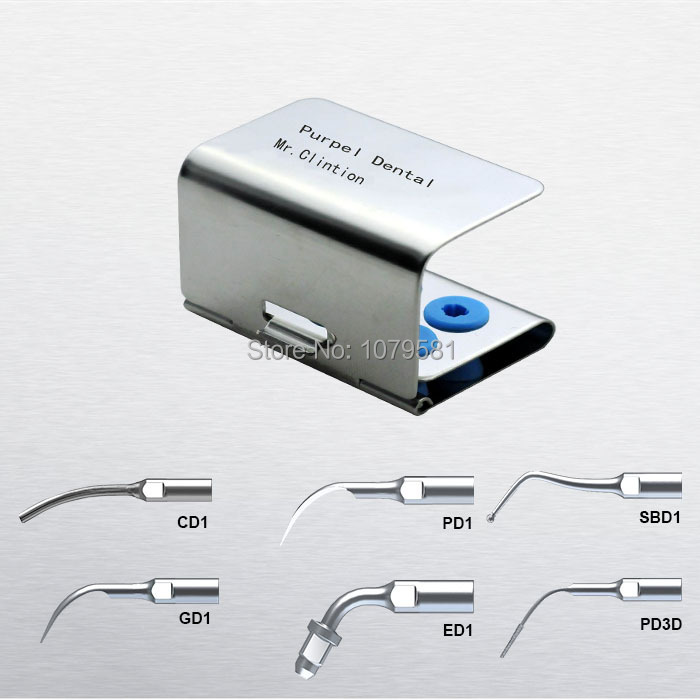 1 set SMUKS Scaler Multi-use Kit Silver for DTE GD1 Remove the calcification and bad filling material dental endodontia(China (Mainland))