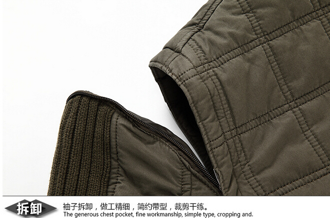 Free shipping 2015 new winter warm cotton hooded thickening leisure fashionable man winter cotton padded clothes