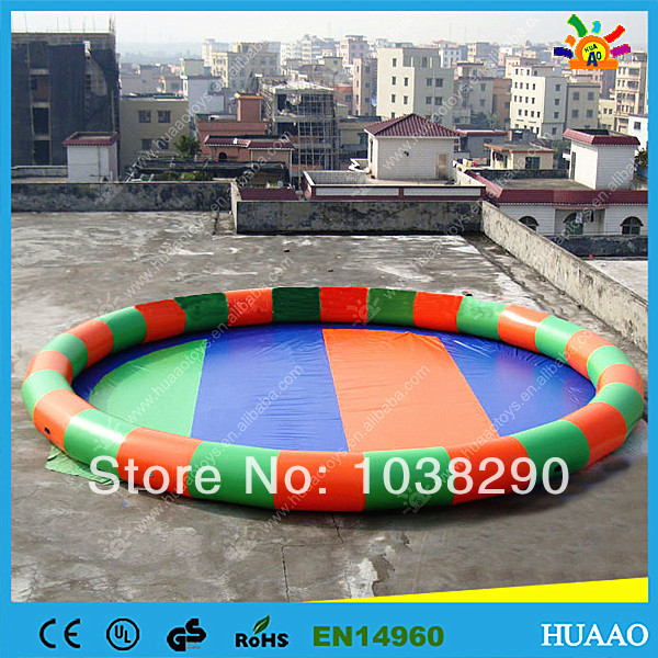 2014 New colorful swimming pool round PVC inflatable pool with free air blower and free shipping by air express to door(China (Mainland))