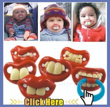 Novelty Pacifier 1pcs Cute Funny Dummies Teeth and Mustach Dummy Baby Nipple Joke Maternity Toddler Child Teething(China (Mainland))