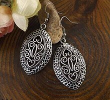 2014 New Arrival Bohemia Tibet Jewelry Tibetan Silver Vintage Carving Retro Drop Earring 1pair for Women Hot MK-012(China (Mainland))