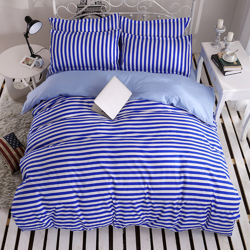 Navy Stripe Bedding Promotion Shop For Promotional Navy