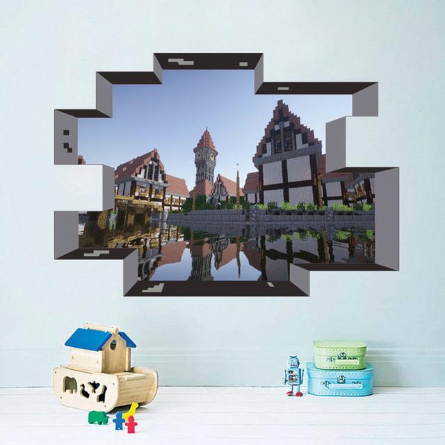 3d через уолл-мультфильм DIY стикер для детей номеров спальня гостиная плакат предметы искусства отличительные знаки MC005