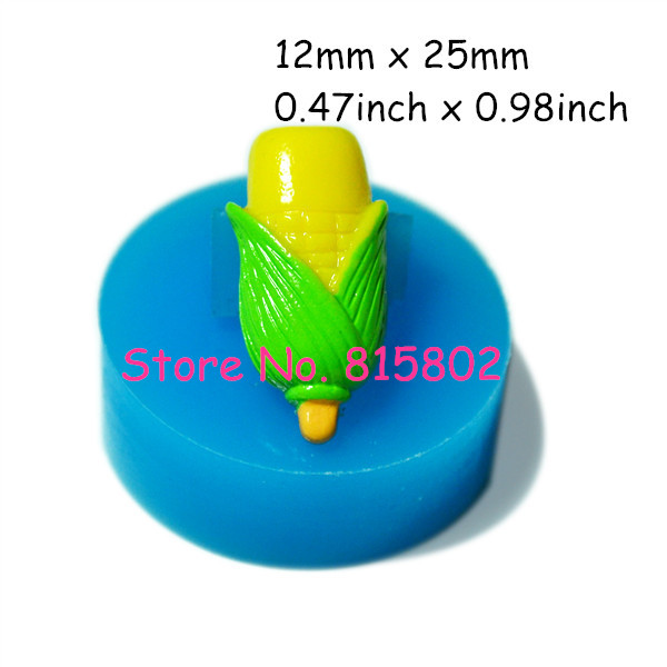 Free Shipping VYL001U Vegetable Mold Corn Mold Silicone Mold Cake Cupcake Fondant Resin Wax Polymer Clay Cake Craft Pop Up Mold(China (Mainland))