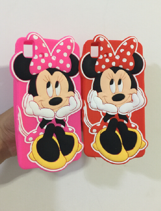 BQ E5 Cute 3D Cartoon 2015 Newest Sit Minnie Mouse Silicone Case Back Cover 3G & 4G Version - ALEX ZHOU Store store