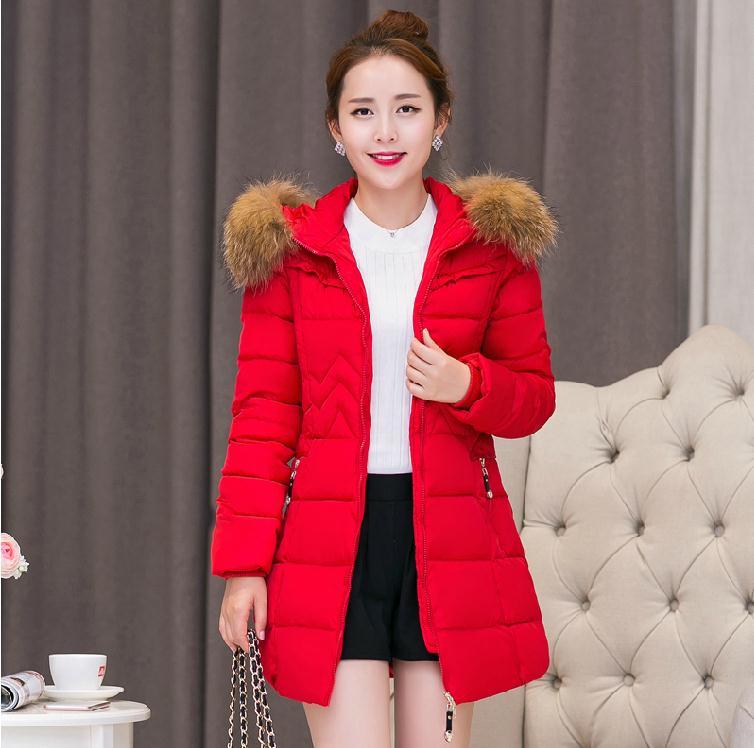 Winter 2015 womens plus size parka coats winter long fur jacket abrigos mujer bayan kaban C40