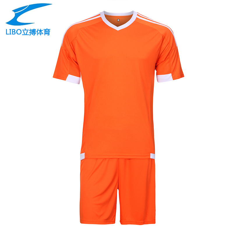 LIBO 2016 17 High Quality Soccer Team Training Jersey Suit Survetement Football Men's Blank Short De Foot Breathable Sportwear(China (Mainland))