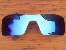 Polycarbonate-Ice Blue Mirror Replacement Lenses For Oil Rig Sunglasses Frame 100% UVA & UVB Protection