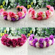 Dámská čelenka do vlasů s růžemi z Aliexpress