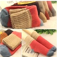 New Women's Winter Socks Cotton With Rabbit Wool Socks For US6-8  Warm Thickening Winter Sock Free Shipping #1251