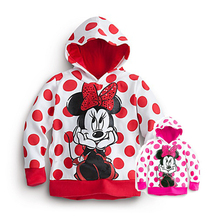 Girl long-sleeve Hoodies, Cartoon Pattern Sport Coat For Children/Baby/Boy/Kid, 2 colors suits: 2-6T,Free Shipping(China (Mainland))