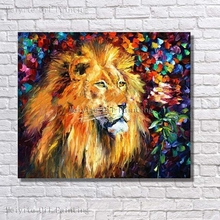 Buy Handpainted New Modern Abstract Wall Pictures Canvas Oil Painting Abstract Wall Art Home Decor Framed Lion Pictures for $9.85 in AliExpress store