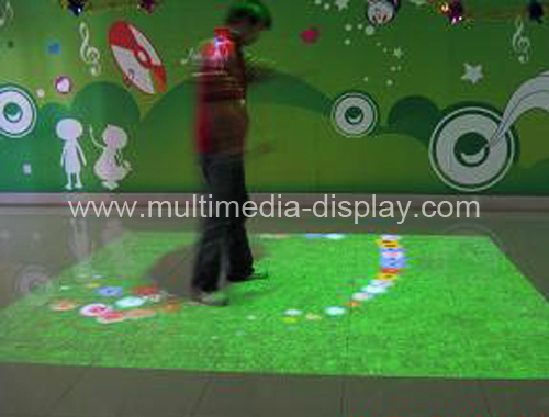 Interactive projection system display, interactive wall for advertising and entertainment with low price(China (Mainland))