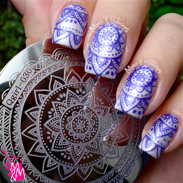 Nail Art Stamp Stamping Plate pochoir Stamp Template Image Plate plaque Fleur Manicure #Qgirl-030(China (Mainland))