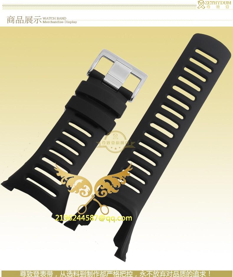 Бесплатная доставка SUUNTO Ambit 1 2 3 30 мм Мужчины Часы Водонепроницаемый Каучуковый Ремешок Ремешок Для Часов Стали Пряжка С Отверткой