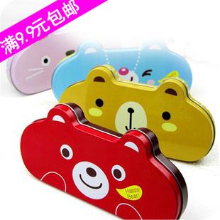 Korea stationery animal style chalybeate stationery box korea stationery pencil box