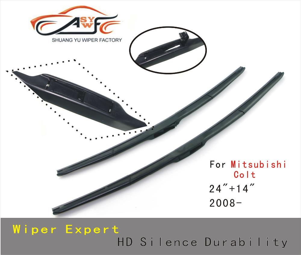 2pcs car Wiper blade 24 14 for Mitsubishi Colt Soft Rubber windscreen wiper blades Car Auto accessories Free Shipping<br><br>Aliexpress