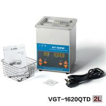 Промышленные цифровой ультразвуковой очистки 2L для фильтра форсунка для очистки и части очистки 110 В, 220 В VGT-1620QTD