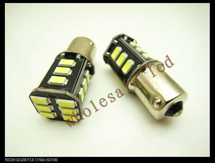 50pcs/lot wholesale new model car led P21/5w 115618 led smd BAY15D 18SMD 5630 SMD Factory Price Free shipping parking