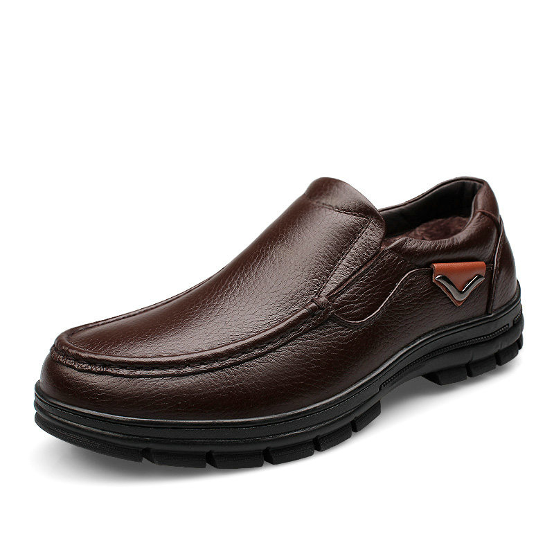 Гаджет  Winter Luxury Shoes Men Genuine Leather Loafers Male Classic Business Casual Sapatos Homens Size 38 to 45 46 47 Black Brown None Обувь