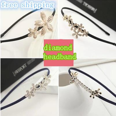 Top sell hair jewelry fake diamond bow Korean small jewelry pearl hairpin hair hoop headband women hairband many style new 2014(China (Mainland))