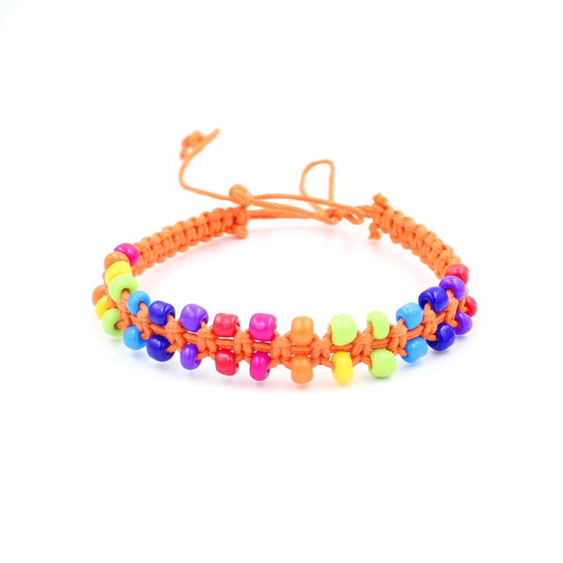 Double Row Beads Friendship Bracelets Adjustable Rope Handmade Charm/Strand Beaded Bracelets For Women Men(China (Mainland))