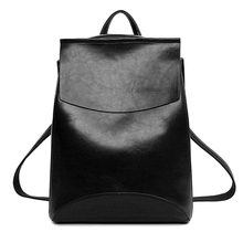 Kavard Famous Brand Backpack Women Backpacks Solid vintage School Bags for Girls black leather backpack mochilas mujer 2016(China (Mainland))