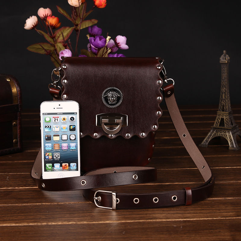 Vintage genuine leather cross-body small bags womens handbag shoulder bag female bag small cross-body mini mobile phone bag<br><br>Aliexpress