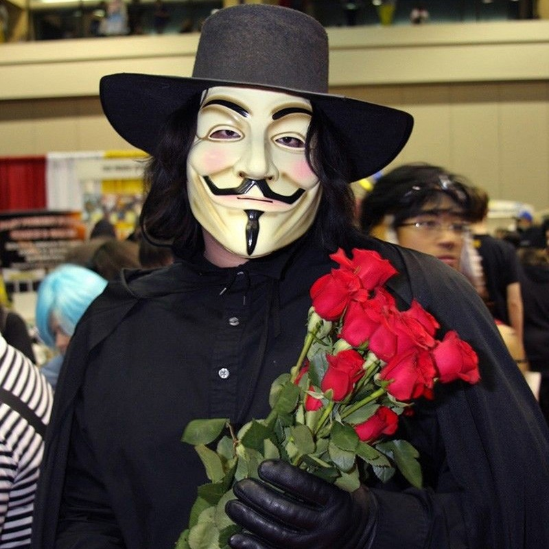 Hot Sale V for Vendetta Mask Guy Fawkes Anonymous Halloween Masks fancy dress costume superhero party masks YW3A-90_5