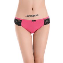 Buy Sexy panties women rushed solid butt lifter bragas women underwear thongs cotton lace comfort underwear women briefs for $1.12 in AliExpress store