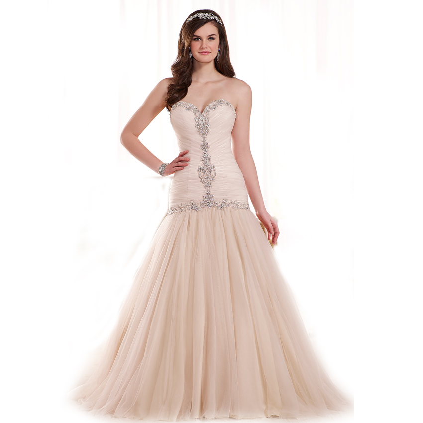 wedding dresses 2015 louisvuigon beaded corset sweetheart lace up