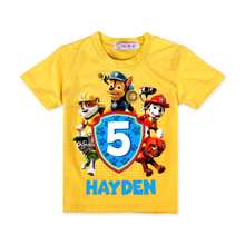 2016 Fashion Cartoon Paw Doggie Patrol Children Boys Girls Cotton T-shirt Tops Summer Kids Casual Tees Short Sleeve Clothing
