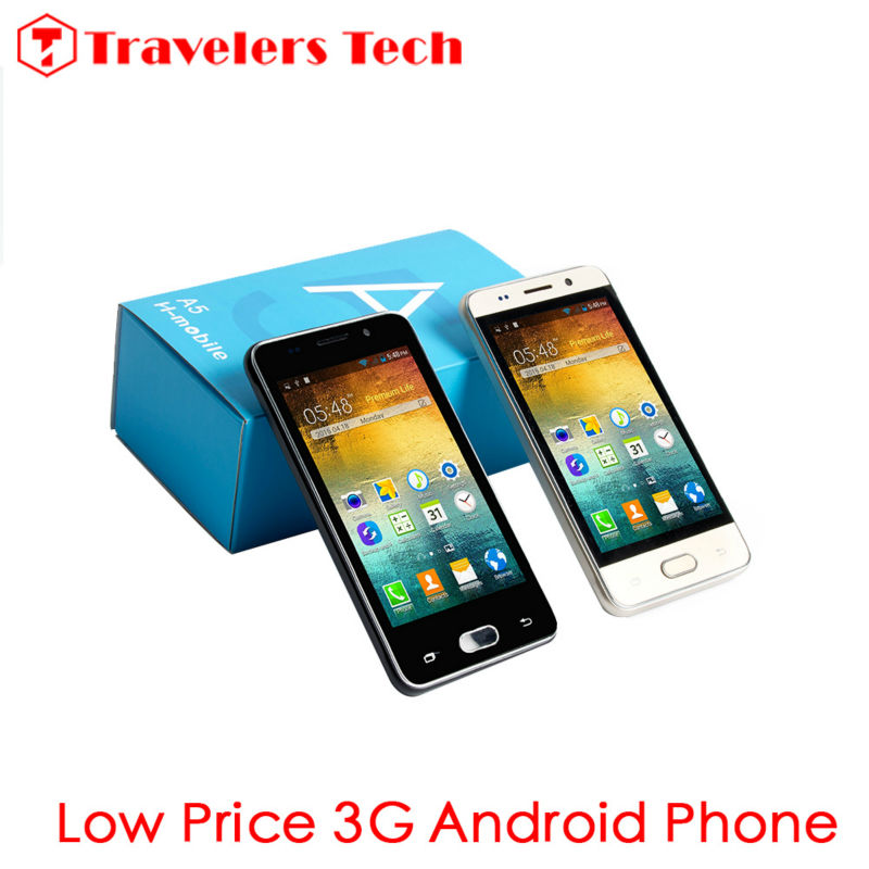 Unlocked Cheapest Smartphone H-Mobile A5 WCDMA2100MHz 4.0 Inch 3G Cell Phone Dual Core WIFI GPS(China (Mainland))