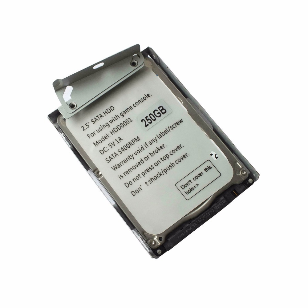 5pcs 250GB HDD Hard Disk Drive + Mount Bracket for Sony PS3 Super Slim CECH-400X(China (Mainland))