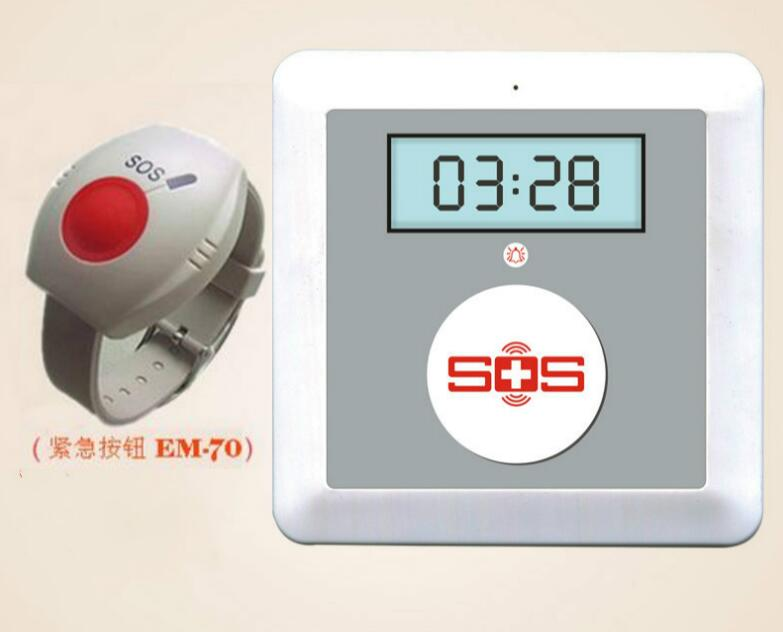 SMS GSM Senior Elderly Guarder System Emergency Call, SOS Panic Button K4(China (Mainland))