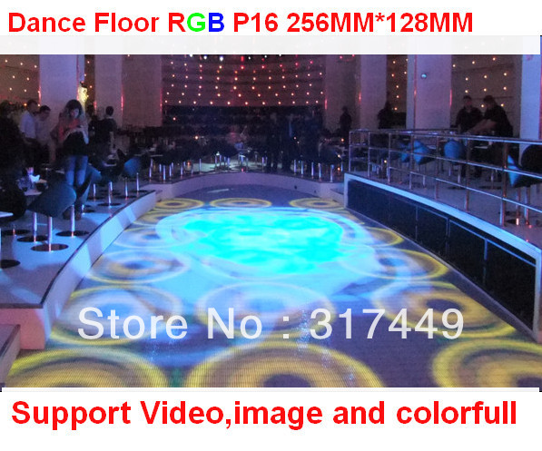 p16 rgb full color dance floor,256mm * 128mm, IP65 design,led dance floor sale(China (Mainland))