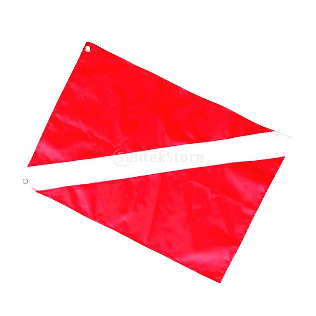 2Pcs Large & Small Scuba Diving Diver Down Flag Safety Signal Marker Banner Kayak Boat Flag Warning Tool