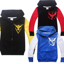 Outerwear & Coats Pokemon Go Children Jackets Cartoon Autumn Long Sleeve Boys Outerwear Tidal Current Game Pokemon Team Apparel