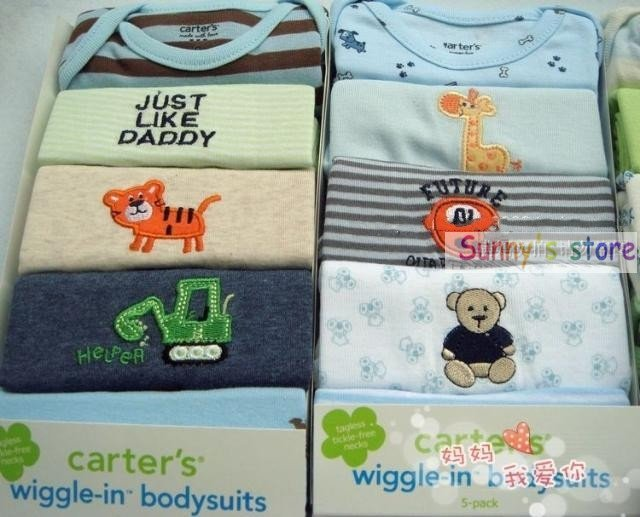 Carter's baby pajamas infant rompers baby wiggle-in bodysuits infant baby suits 50pcs
